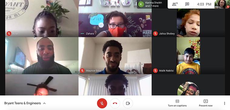 Teens Meeting Virtually