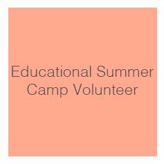 Educational Summer Program Camp Volunteer