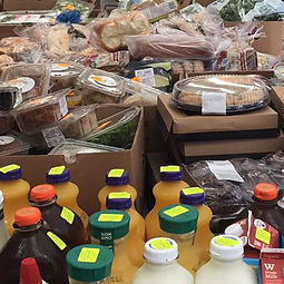 Food and drinks from the food pantry