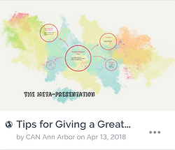 Tips for Giving a Great Presentation Ico