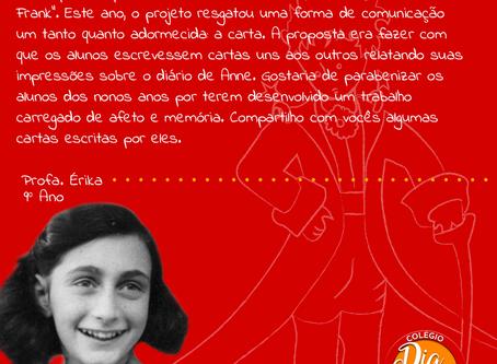 """Cartas dos Alunos """"O diário de Anne Frank"""" - 9º Ano"""