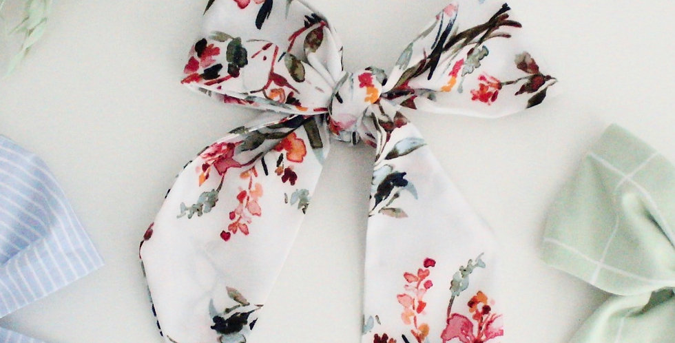 Watercolor Floral Hair Scarf