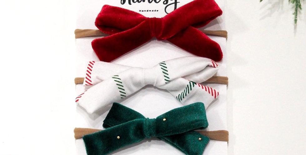 Holiday Baby Bow Set