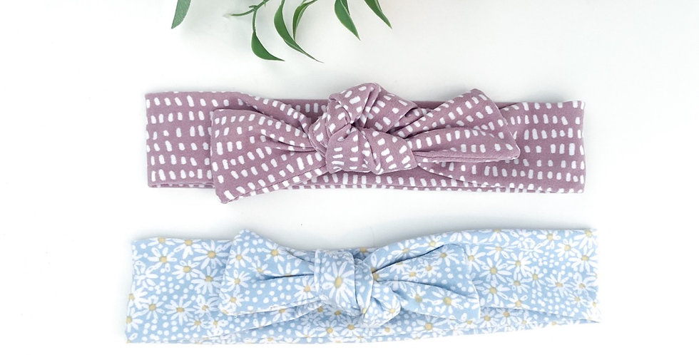 Spring Baby Bow Set
