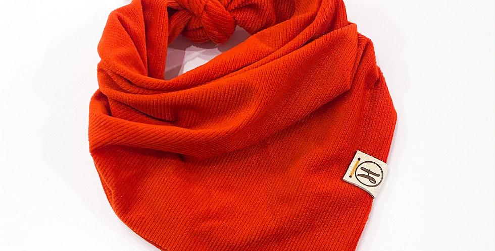 Ultra Soft Orange Corduroy Bandana (size medium)