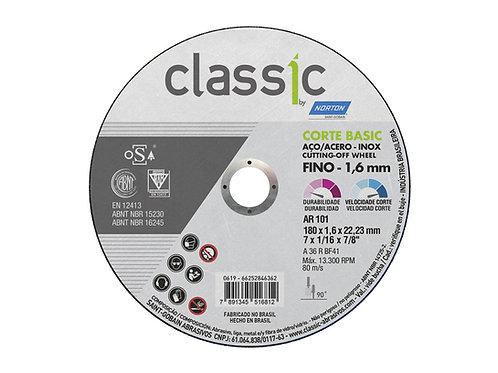 DISCO CORTE INOX 7 (180 X 1,6 X 22,23) AR101 CLASSIC