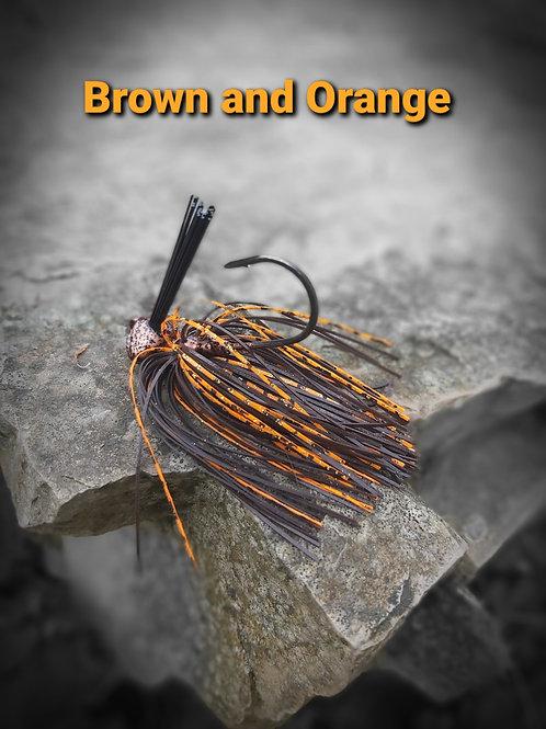 JRJ  Brown and Orange