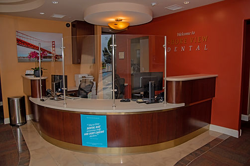 Inside of Shoreview dental front lobby