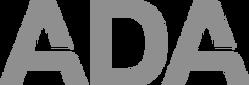 ADA white logo