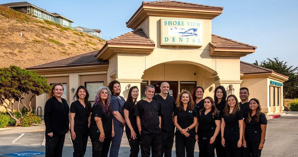 Shoreview dental team outside of office