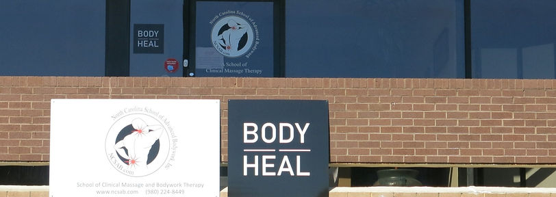 Brick and glass front of the Body Heal Selwyn Park massage and bodywork business.