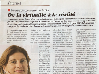Le droit du commerce sur le net :  De la virtualité à la réalité