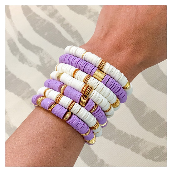 Lavender with Gold Discs