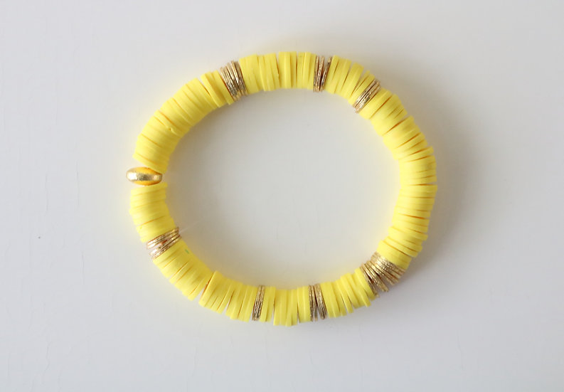 Yellow with Gold Discs