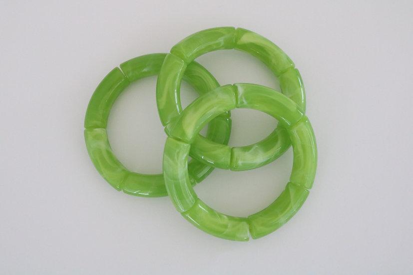 Acrylic- green marble