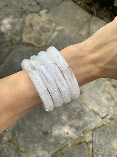 Acrylic - white marble