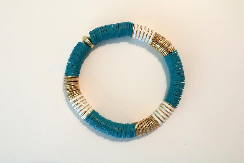 Turquoise & white Discs