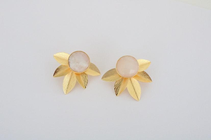 White floral earrings