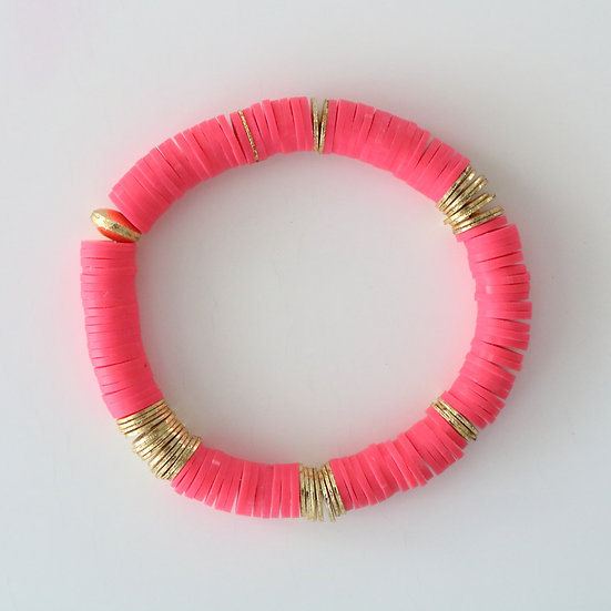 Pink with Gold Discs