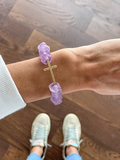 Lavender with gold cross