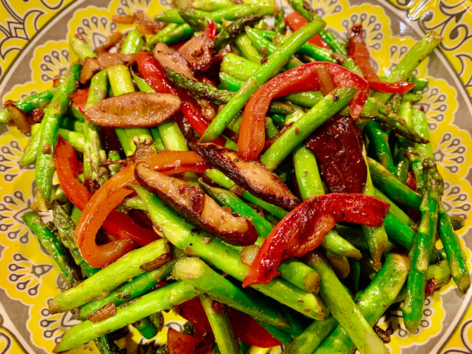 Sautéed Asparagus with Shiitake Mushrooms
