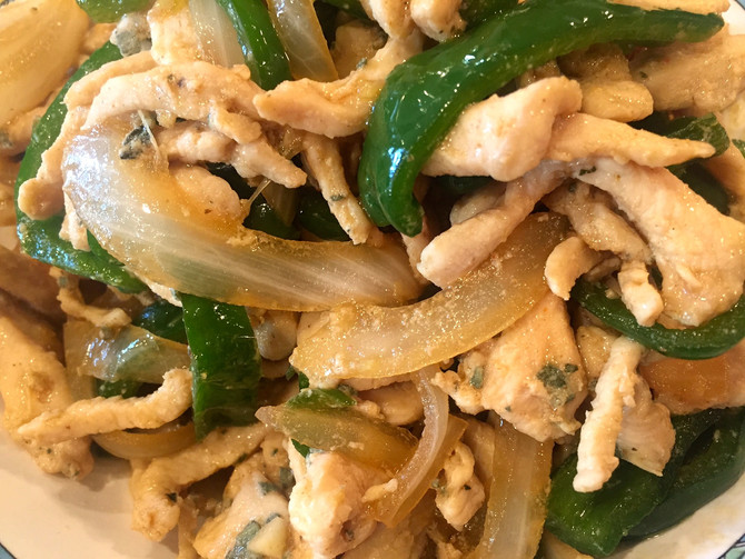 Stir-fry Tender Chicken With Poblano Peppers