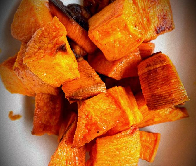 Baked Sweet Potatoes with Turmeric & Cinnamon