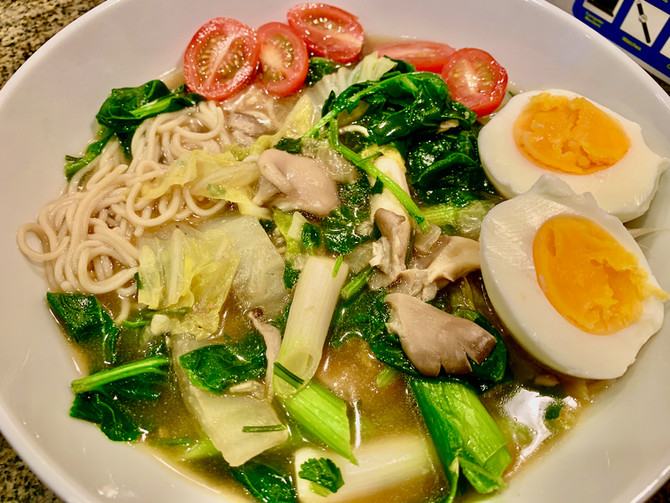 Budget-Friendly Gluten-Free Miso Noodle Soup with Oyster Mushrooms