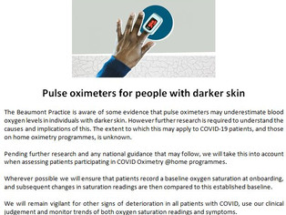 Pulse Oximeters for People with Darker Skin