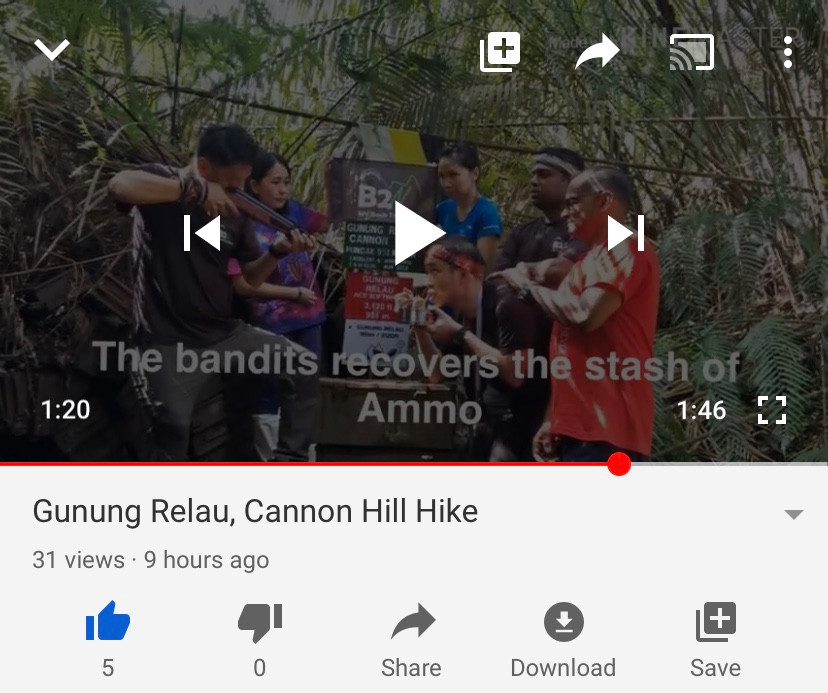 gunung relau, gunung relau kampar, cannon hill