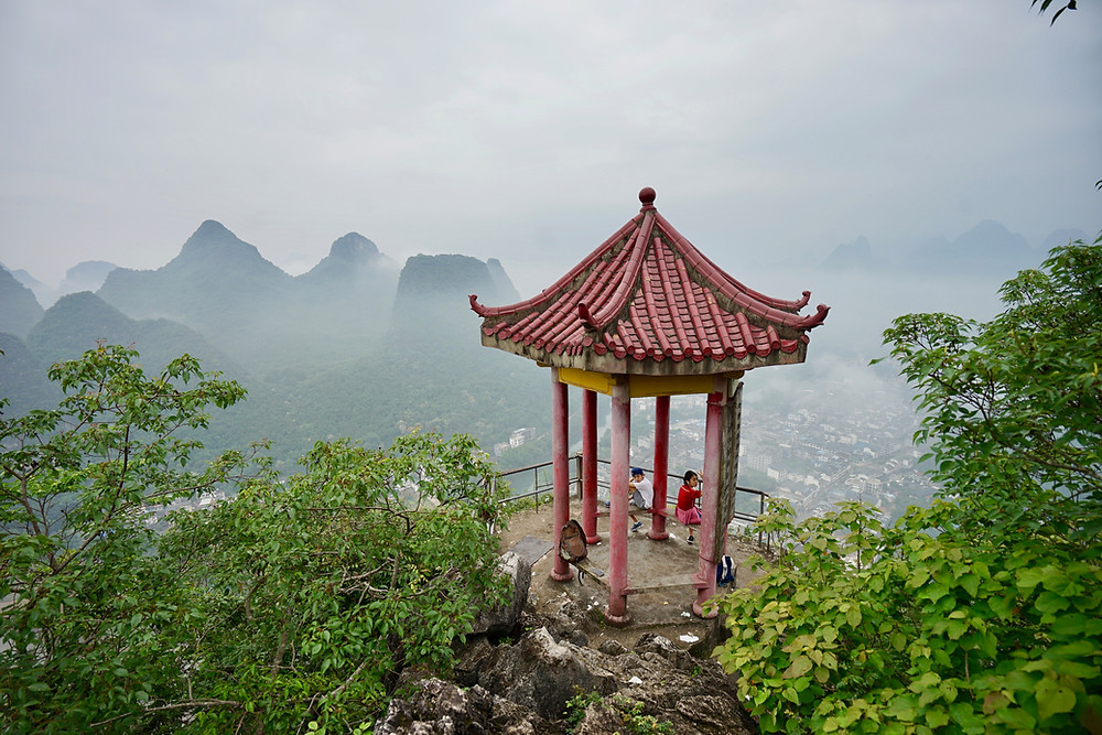 xingping, laozhai peak pavilion, guilin top hikes, guilin-hikes