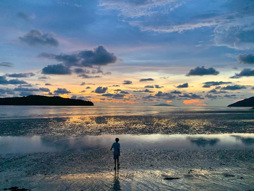 langkawi, 48 hours in langkawi, sunset in pantai cenang