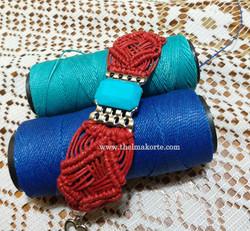 bracelete em macramê trançado (2)