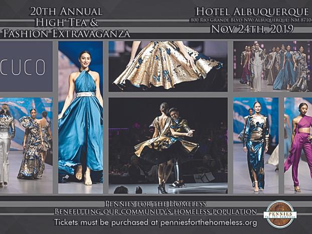 2019 Fashion Extravanganza invitaion featuring designer Rodrigo Bunton Navarrete's amazing work!