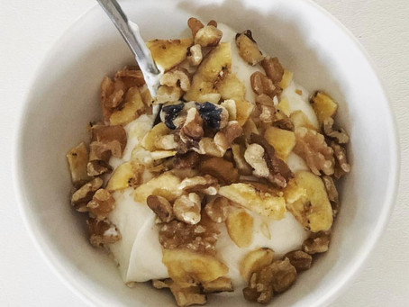 Low Sugar, High Protein: Walnut Banana Yogurt Parfait