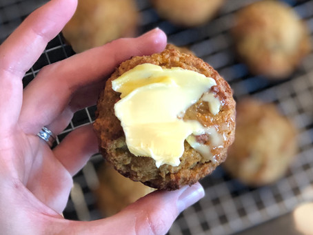 Not-So-Paleo Carrot Cake Muffins