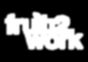 Fruit2Work logo overlaying a photo of a Fruit2Work employee packing fruit boxes