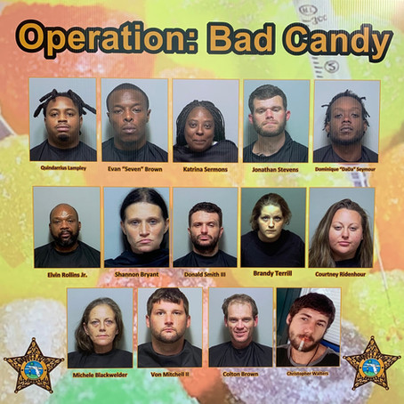 """SPECIAL TEAMS OPERATION """"BAD CANDY"""" TARGETS DRUG-RELATED WARRANTS"""