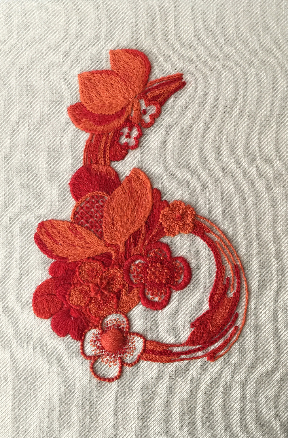 Grinling Gibbons Jacobean Crewelwork by Kate Pankhurst.