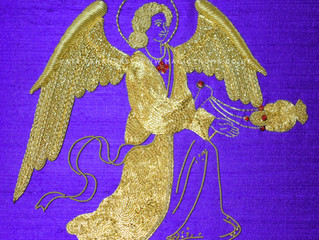 Pugin's Angel flies in