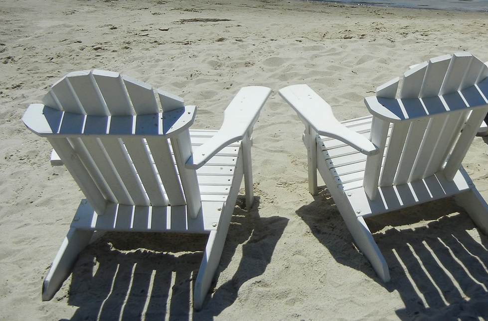 Cape Cod chairs on the beach