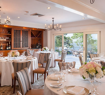 Elegant dining at Wequassett Resort on Cape Cod for a getaway