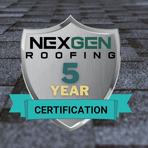 5 Year - Roof Certification