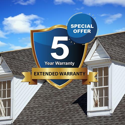 5 Year - Pro Roof Warranty