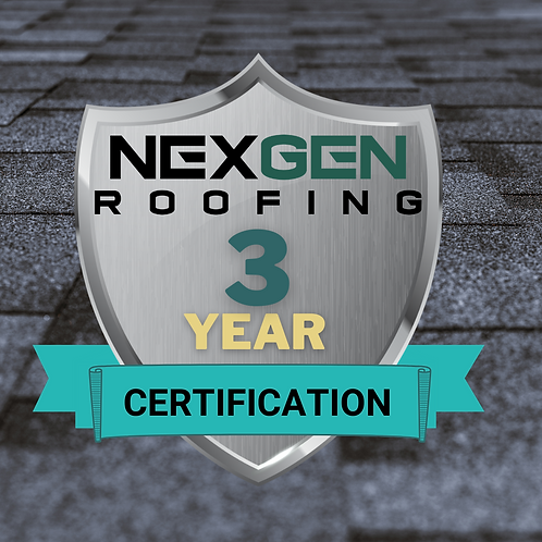 3 Year -Roof Certification
