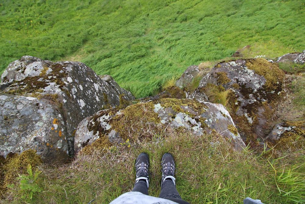 Le vert pétant de l'île de Viðey