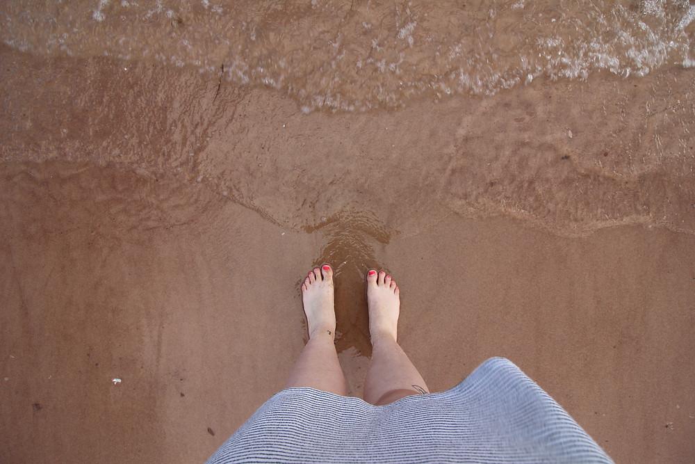 Sur les singing sands de Basin Head, sur l'Île-du-Prince-Edouard
