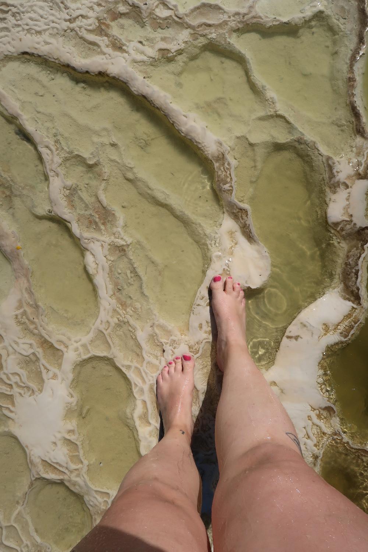 Dans les piscines naturelles de Hierve El Agua