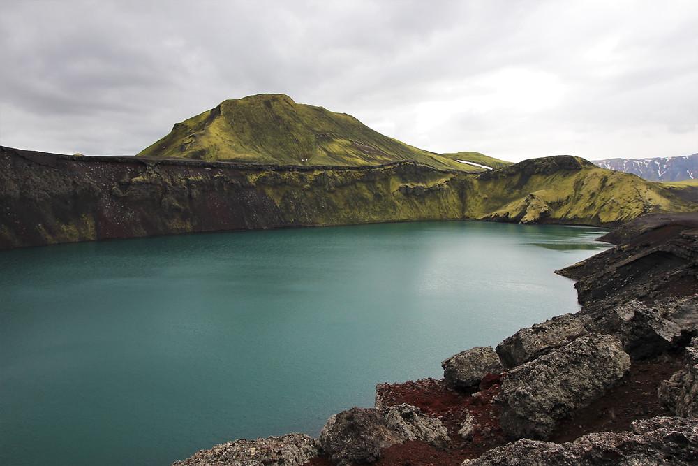 lac de cratère Hnausapollur