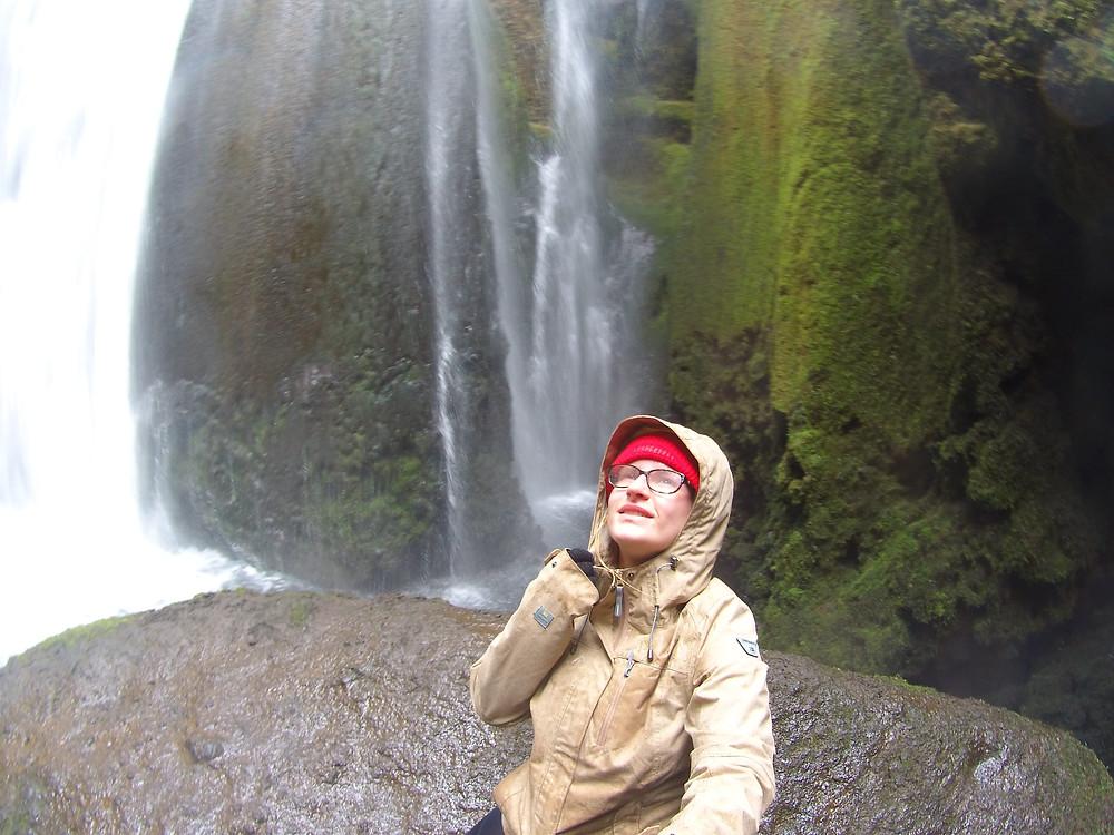 Photo prise avec un selfie-stick, Islande, 2015